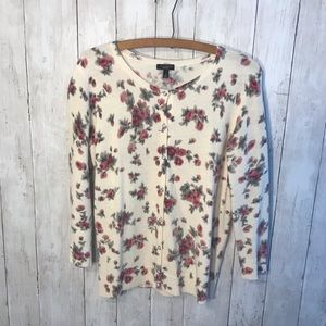 Talbots Flower Cardigan Size Small